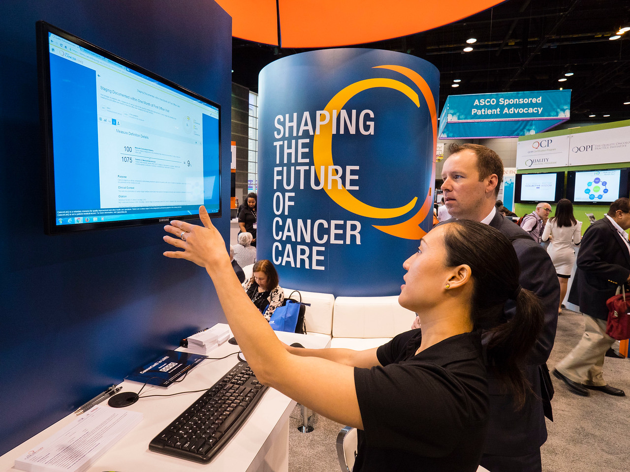 General views during CancerLinQ Booth
