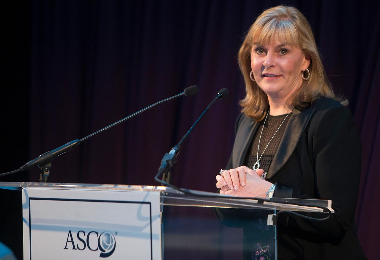 Dr. Julie M. Vose speaks during President's Dinner