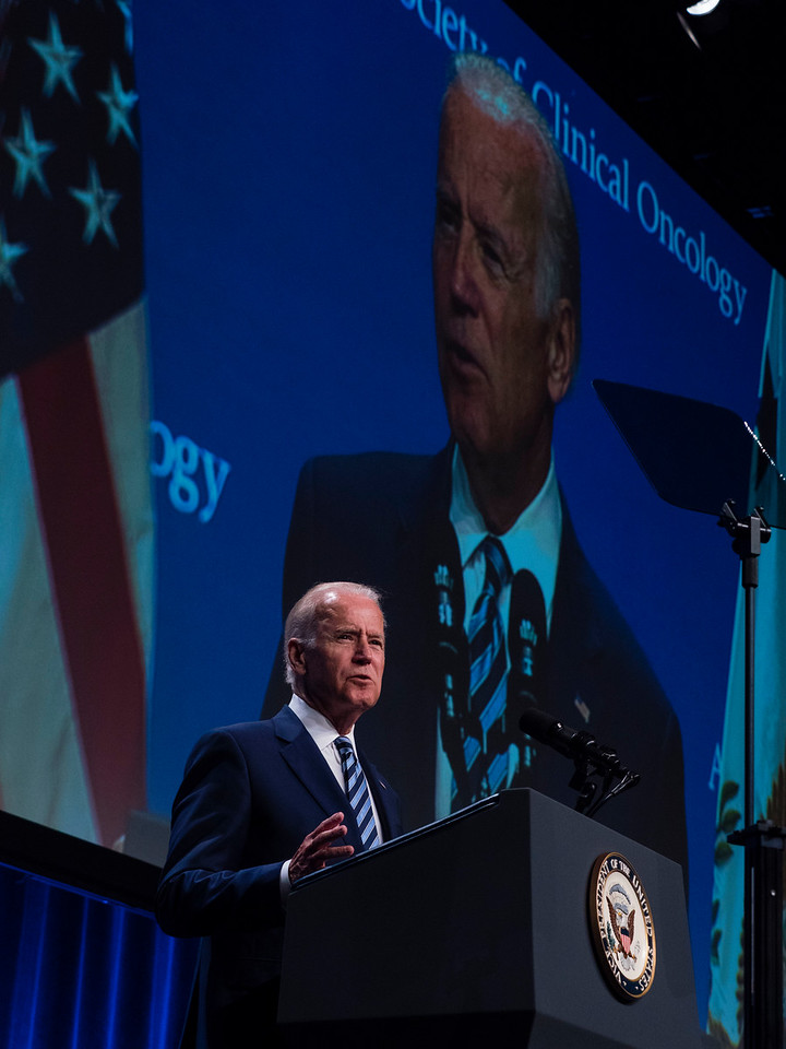 Vice President Joe Biden speaks during a plenary session