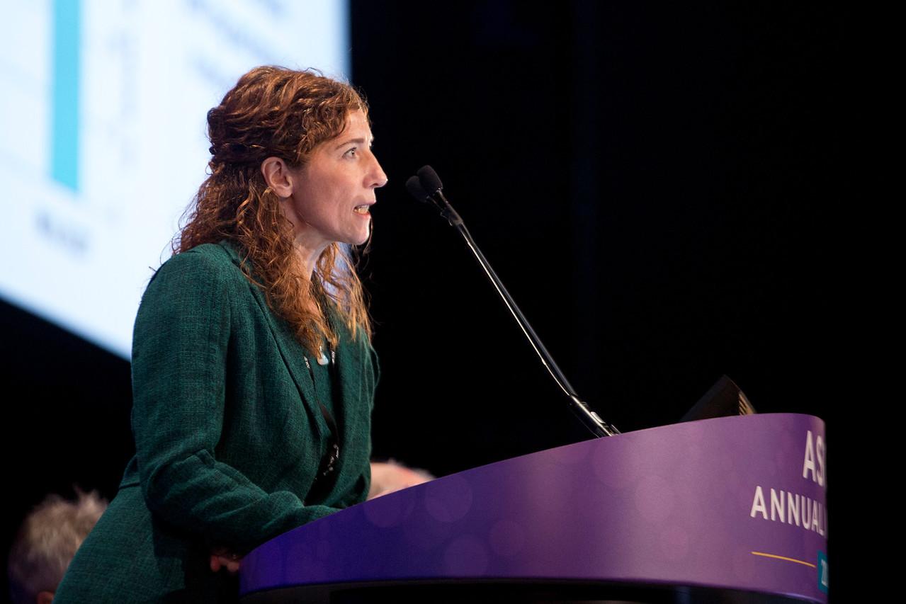 Veronika Bachanova, MD, speaks during Immunotherapeutic Approaches to Treating Hematologic Malignancies