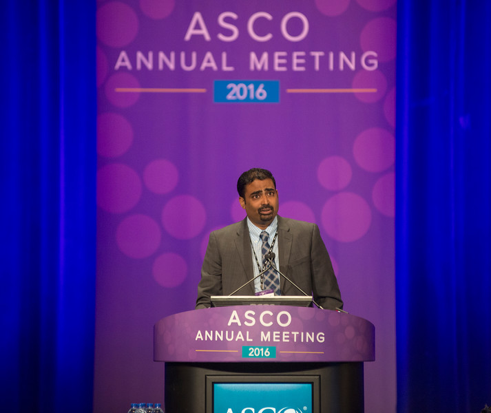 Session Chair Vamsidhar Velcheti, MD during What's Next in Cancer Immunotherapy?
