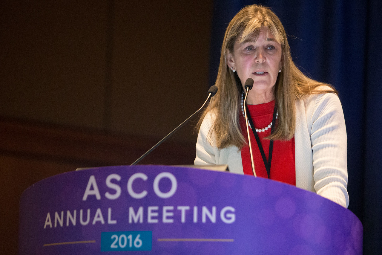Molly Brewer, DVM, MD, MS, discusses screening for gynecologic cancer during Gynecologic Cancer Oral Abstract Session