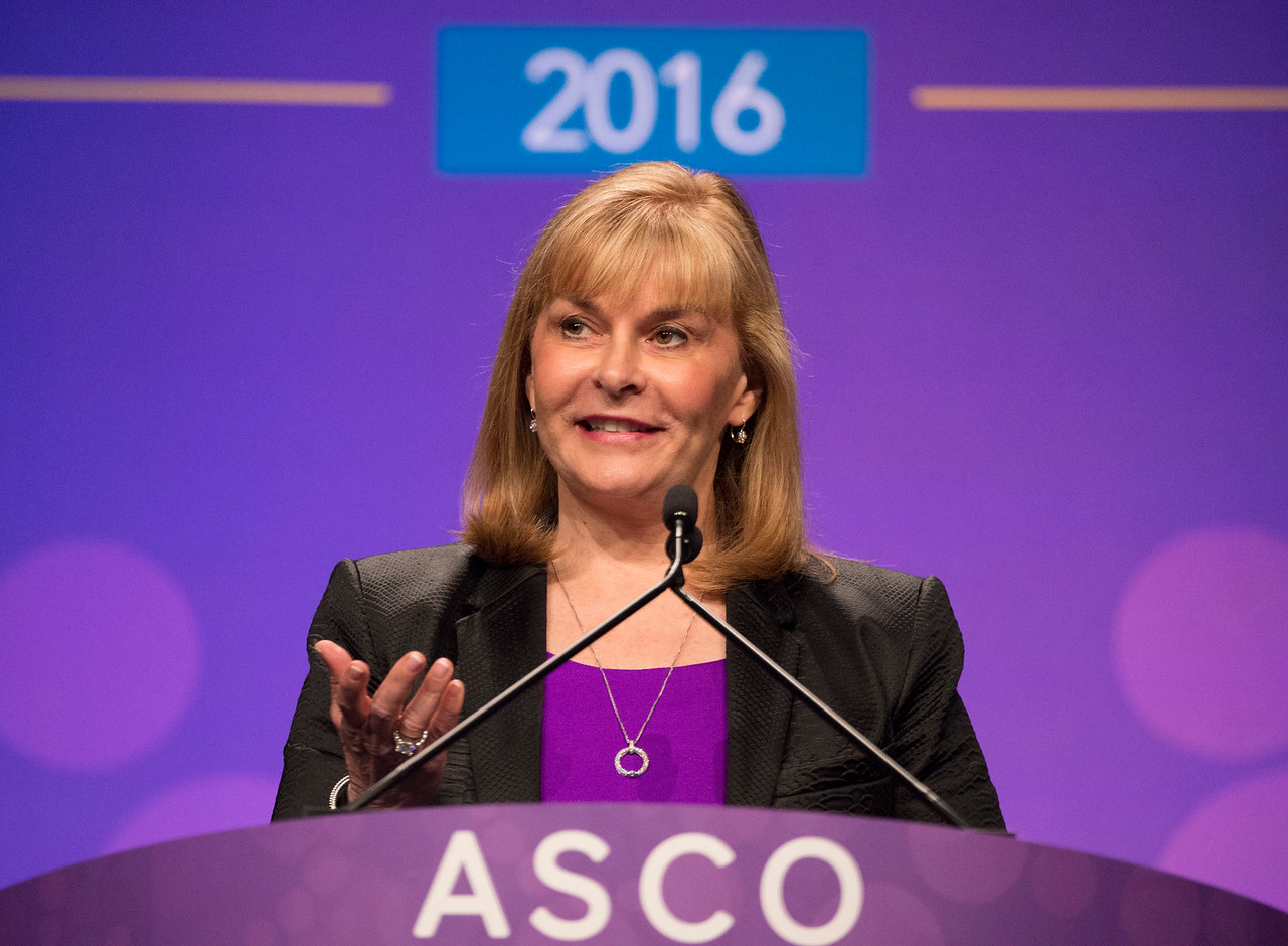 ASCO President Julie M. Vose, MD, MBA, FASCO, delivering her Presidential Address during Opening Session