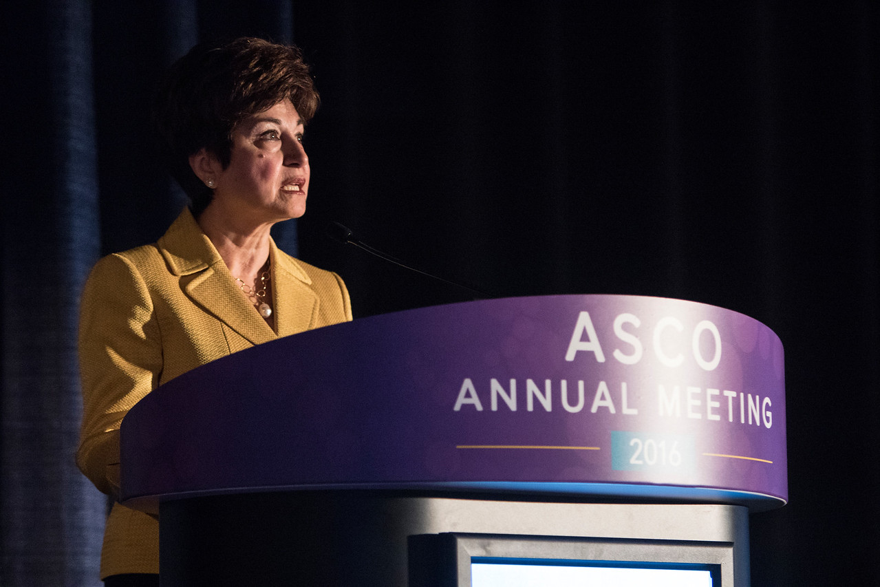 Maha Hussain, MD, FACP, FASCO, presents Abstract 5010 during Evolving Role of DNA Repair in Genitourinary Cancer Management