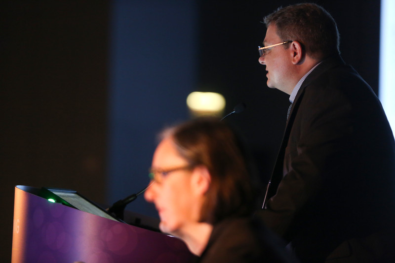 Oliver A. Zill, PhD, presents LBA 11501 during Tumor Biology Oral Abstract Session