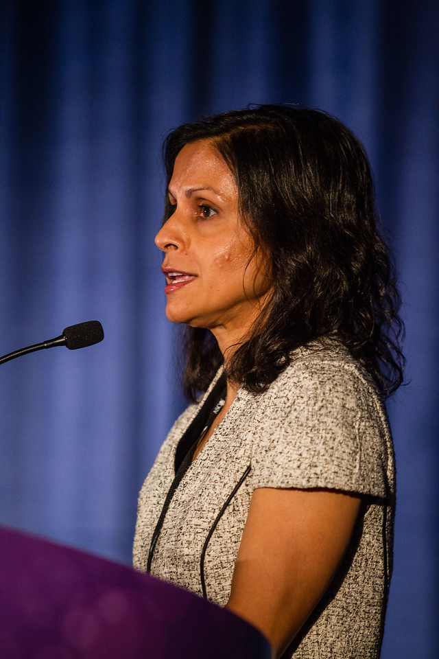Neha Vapiwala, MD, speaks during Oligometastatic Disease in Prostate Cancer: Treating the Patient or the Scan?
