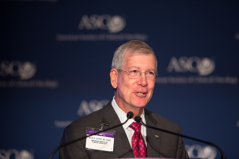 Allen Lichter, MD, FASCO, speaks during National Cancer Center Moonshot Initiative Briefing