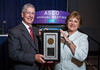 Allen S. Lichter, MD, FASCO, presenting the Partners in Progress Award to Susan Braun, MA, FASCO, during Partners in Progress Award