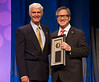 Paul A. Bunn, Jr., MD, FASCO, accepting the David A. Karnofsky Memorial Award during Opening Session