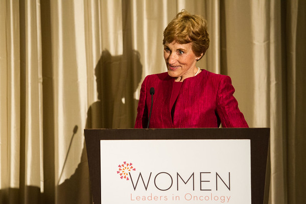 Sarah Donaldson, MD, recipient of the 2016 Women Who Conquer Cancer Mentorship Award during Women Leaders in Oncology Event