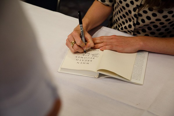 Lucy Kalanithi, MD, book signing during ASCO Book Club Session