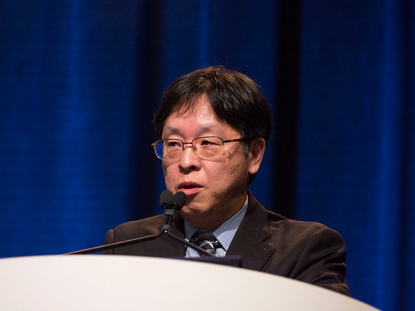 Toshihiko Doi, MD, presents Abstract 7 - Oral Abstract Session: Cancers of the Esophagus and Stomach