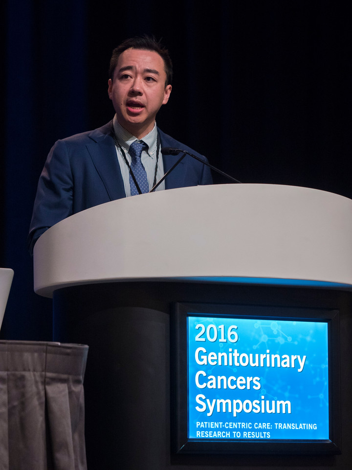 Thai Huu Ho, MD, PhD, presenting Abstract 591 - Oral Abstract Session C: Renal Cell Cancer