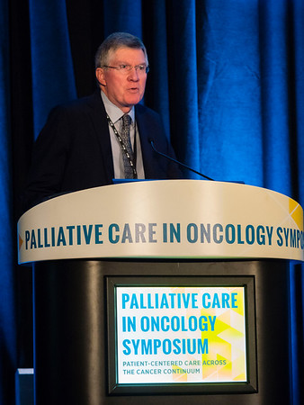 Daniel Hinshaw, MD, delivering Welcome of the Day during Welcome and General Session 1: Challenges of Immunotherapeutics