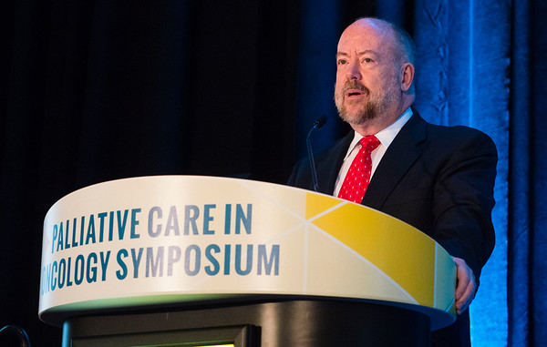Charles F. Von Gunten, MD, PhD, speaks during Oral Abstract Session B
