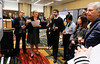 Susan Urba, MD, leading attendees during the poster walk