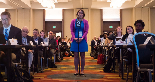 Attendees ask questions during Welcome and General Session 1: Challenges of Immunotherapeutics