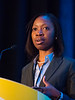 Oreofe Olukemi Odejide, MD, speaks during Oral Abstract Session B