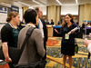 Alysa Fairchild, MD, leading attendees during the poster walk