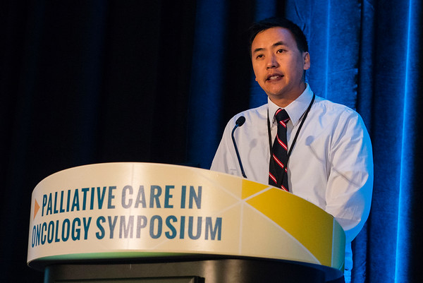 "Randy Wei, MD, PhD, UC Irvine School of Medicine, presenting Abstract #105, ""Attitudes of radiation oncologists toward palliative and supportive care in the United States: Report on National Membership Survey by the American Society for Radiation Oncology (ASTRO),"" during Oral Abstract Session B"