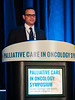 David R. Spigel, MD, speaks during Welcome and General Session 1: Challenges of Immunotherapeutics
