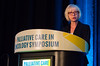Petra C. Feyer, MD, PhD, speaks during Oral Abstract Session B