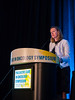 """Erin Kent, PhD, National Cancer Institute, presenting Abstract #4, """"Cancer versus non-cancer caregivers: An analysis of communication needs from the 2015 Caregivers in the U.S. study,"""" during Oral Abstract Session A"""