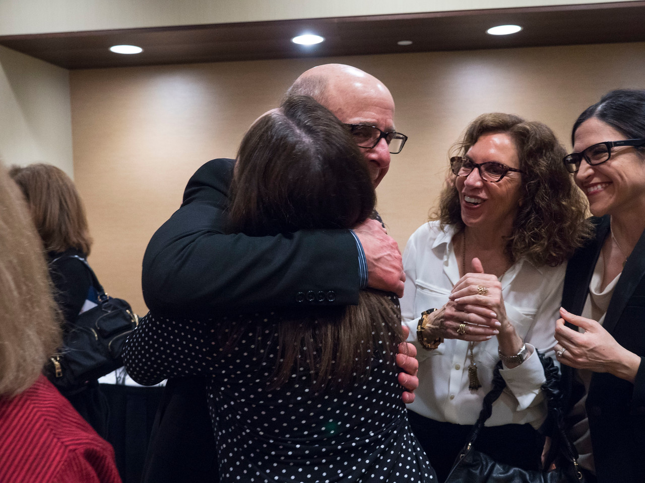 Attendees networking at the cocktail reception - An Evening for Cancer Survivors and Caregivers