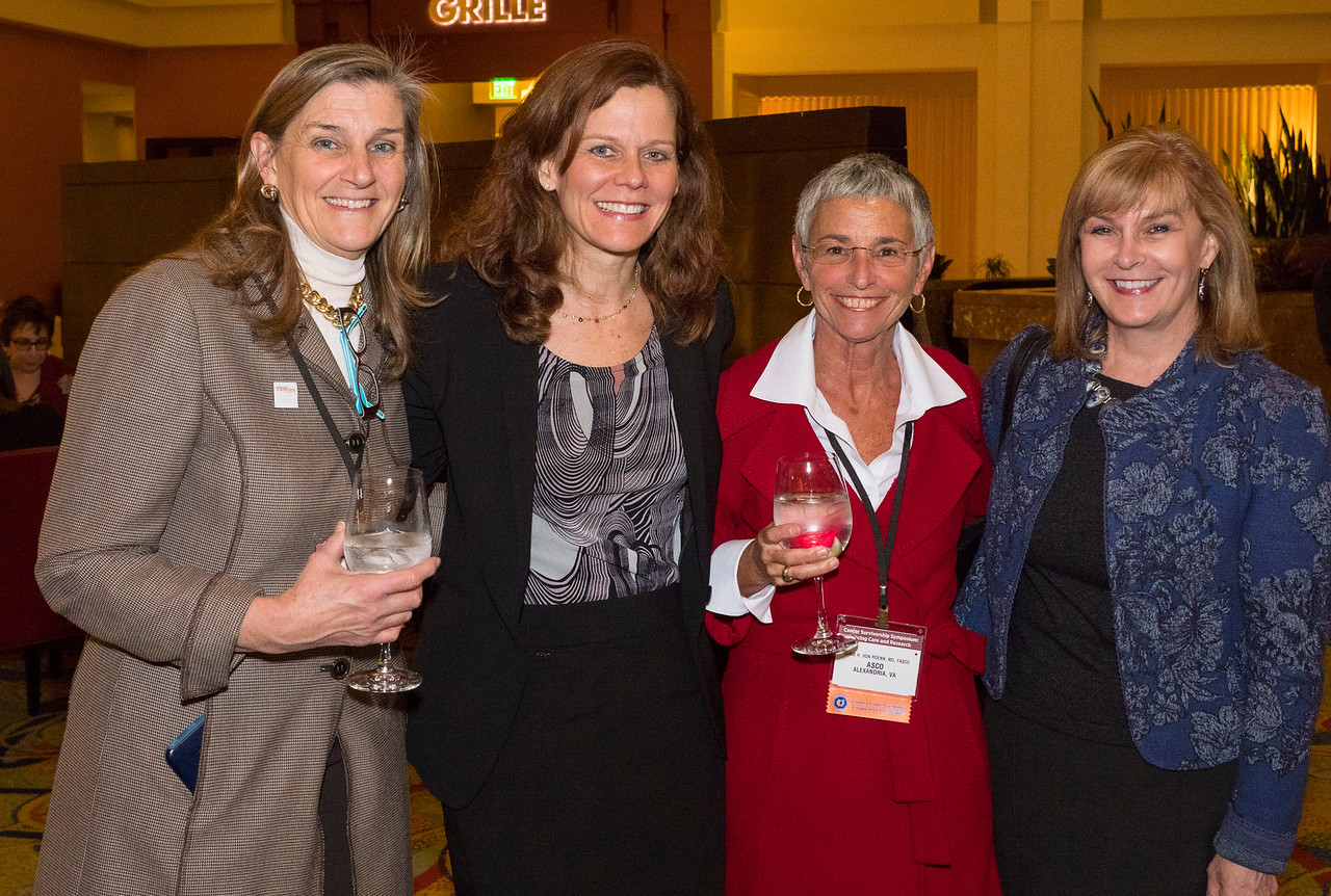 Attendees at the cocktail reception - An Evening for Cancer Survivors and Caregivers