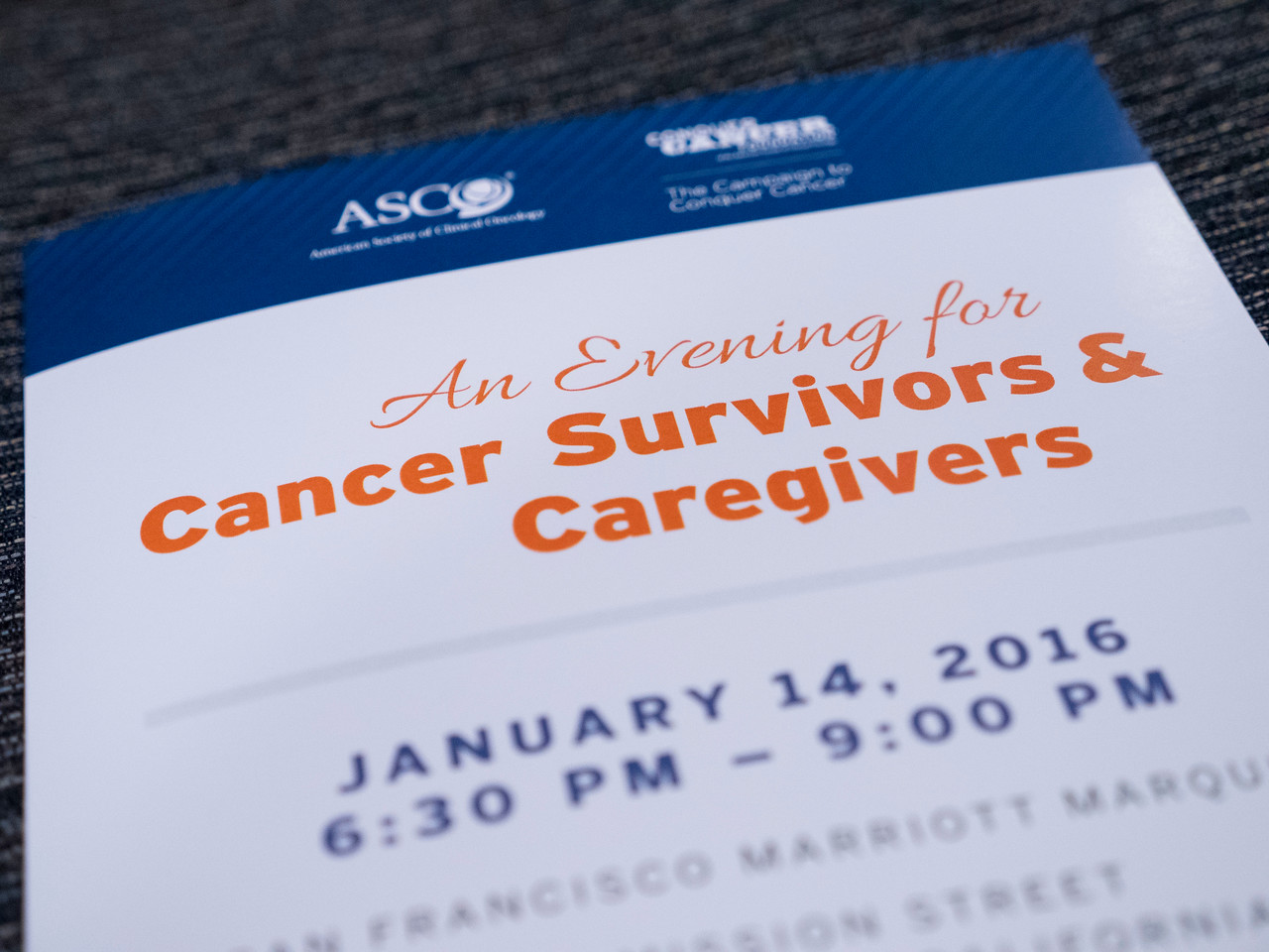 An Evening for Cancer Survivors and Caregivers