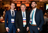 Michael Cecchini, MD, Roy Herbst, MD, PhD and Brian Henick, MD during 2017 Grants & Awards Ceremony and Reception