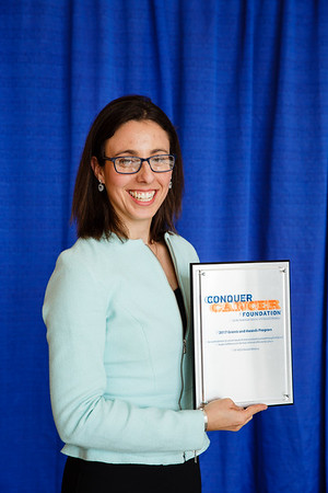 2017 Young Investigator Award Recipient Rachael Safyan, MD, during 2017 Grants & Awards Ceremony and Reception