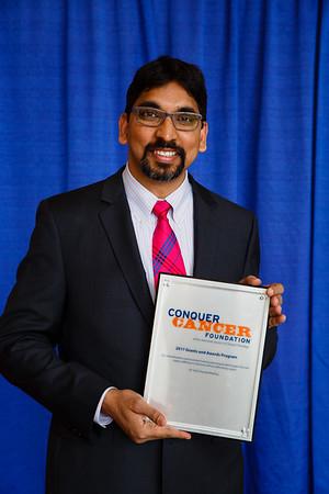 2017 Young Investigator Award Recipient Prasanna Alluri, MD, PhD, during 2017 Grants & Awards Ceremony and Reception
