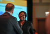 2017 Resident Travel Award Recipient Susanna Awoyode, MBBS, MS with Thomas G. Roberts, Jr., MD, Chair of the Conquer Cancer Foundation Board of Directors, during 2017 Grants & Awards Ceremony and Reception
