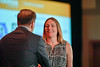 2017 YIA Recipient Laura Spring, MD with Thomas G. Roberts, Jr., MD, Chair of the Conquer Cancer Foundation Board of Directors, during 2017 Grants & Awards Ceremony and Reception