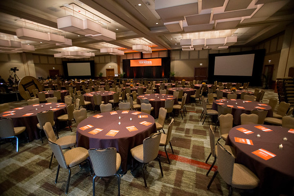 Ballroom setup during 2017 Grants & Awards Ceremony and Reception