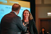 2017 YIA Recipient Meredith McKean, MD with Thomas G. Roberts, Jr., MD, Chair of the Conquer Cancer Foundation Board of Directors, during 2017 Grants & Awards Ceremony and Reception