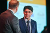 2017 IDEA Recipient Tahir Mehmood, MBBS, FCPS with Thomas G. Roberts, Jr., MD, Chair of the Conquer Cancer Foundation Board of Directors, during 2017 Grants & Awards Ceremony and Reception