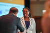 2017 Resident Travel Award Recipient Betty Abban, MD with Thomas G. Roberts, Jr., MD, Chair of the Conquer Cancer Foundation Board of Directors, during 2017 Grants & Awards Ceremony and Reception