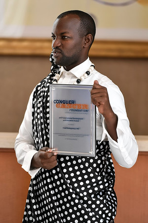 2017 IDEA Recipient Fidel Rubagumya, MD during 2017 Grants & Awards Ceremony and Reception