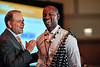 2017 IDEA Recipient Fidel Mihimbili Rubagumya, MD with Thomas G. Roberts, Jr., MD, Chair of the Conquer Cancer Foundation Board of Directors, during 2017 Grants & Awards Ceremony and Reception