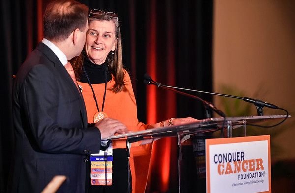 Nancy R. Daly, MS, MPH, CCF Executive Vice President & Chief Philanthropic Officer, during 2017 Grants & Awards Ceremony and Reception