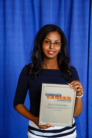 2017 Resident Travel Award Recipient Eden Biltibo, MD during 2017 Grants & Awards Ceremony and Reception