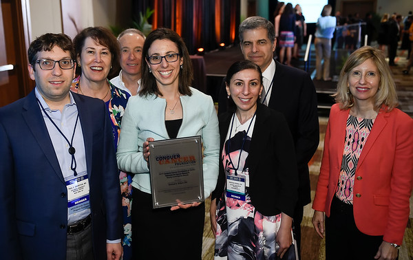 Gateway for Cancer Research YIA Recipient Rachel Safyan, MD with Gateway for Cancer Research Staff and her mentors during 2017 Grants & Awards Ceremony and Reception