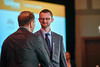 2017 YIA Recipient Robert Smyth, MB, MSc with Thomas G. Roberts, Jr., MD, Chair of the Conquer Cancer Foundation Board of Directors, during 2017 Grants & Awards Ceremony and Reception