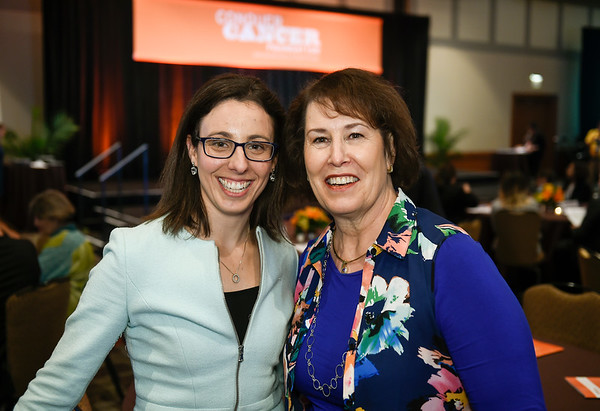 Rachel Safyan, MD with Gateway for Cancer Research President Teresa Bartels during 2017 Grants & Awards Ceremony and Reception