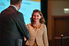 2017 YIA Recipient Claire Friedman, MD with Thomas G. Roberts, Jr., MD, Chair of the Conquer Cancer Foundation Board of Directors, during 2017 Grants & Awards Ceremony and Reception