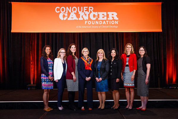 Women Who Conquer Cancer Advisory Group & YIA Recipients during 2017 Grants & Awards Ceremony and Reception