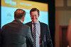 2017 CDA Recipient Adrian Sacher, MD with Thomas G. Roberts, Jr., MD, Chair of the Conquer Cancer Foundation Board of Directors, during 2017 Grants & Awards Ceremony and Reception