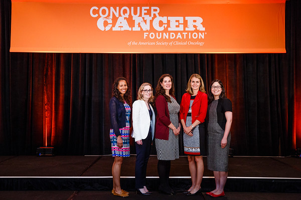 Women Who Conquer Cancer YIA Recipients during 2017 Grants & Awards Ceremony and Reception